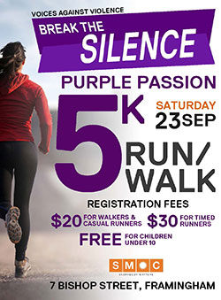 Voices Against Violence Purple Passion 5K Run/Walk to Break the Silence 2017