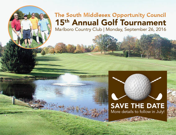 The South Middlesex Opportunity Council, 15th Annual Golf Tournament, Marlboro Country Club, Monday September 26, 2016